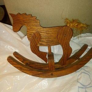 Decorative wooden rocking horse-really rocks!